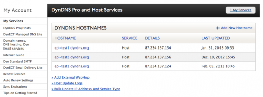 DynDNS Add Hostname